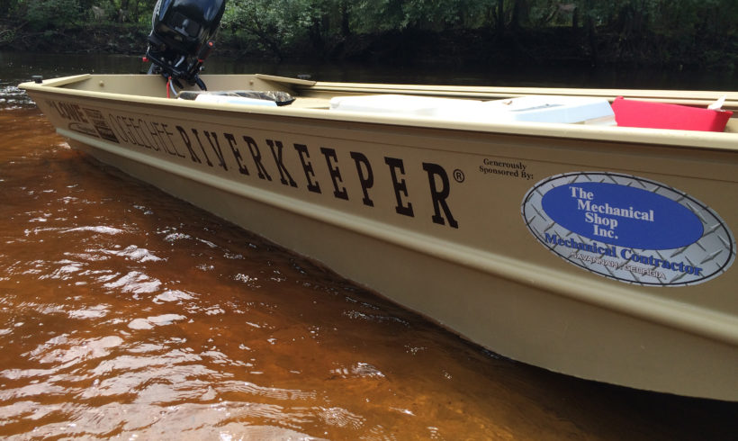 THE MECHANICAL SHOP DONATES NEW PATROL BOAT FOR OGEECHEE RIVERKEEPER